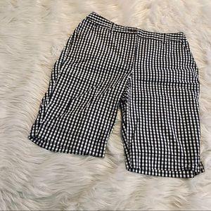 """💖 """"kim rogers"""" black/white checkered shorts 💖"""